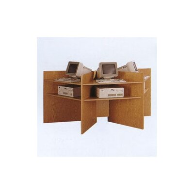 Fleetwood Lab Carrel Wooden Workstation Starter