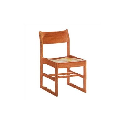 "Fleetwood Library 18"" Wood Classroom Sled Chair"