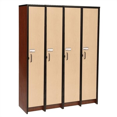 "Fleetwood 60"" H Four Unit Laminate Locker"