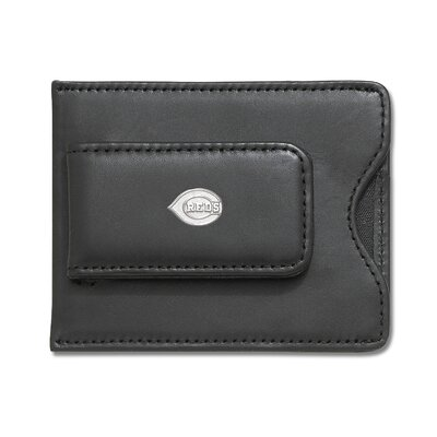 MLB Logo Black Leather Money Clip / Credit Card Holder