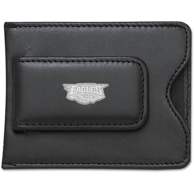LogoArt® NFL Logo Black Leather Money Clip / Credit Card Holder