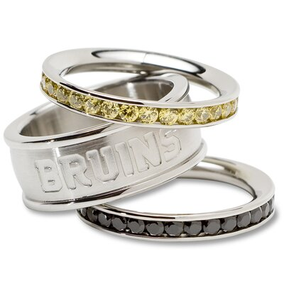 LogoArt® NHL Logo Crystal Stacked Ring Set