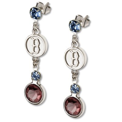 LogoArt® MLB Logo Crystal Earrings
