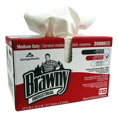 Brawny Quarter Case All-Purpose Double Recrepe Wipers