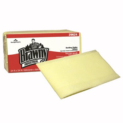 Brawny Quarter fold Dusting Cloths in Yellow