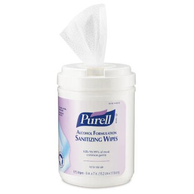 Purell® Pre-moistened Sanitizing Wipes in White