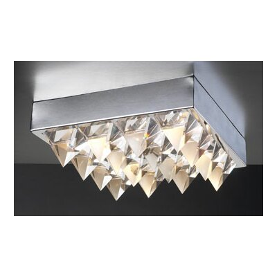 PLC Lighting Crysto 4 Light Semi Flush Mount
