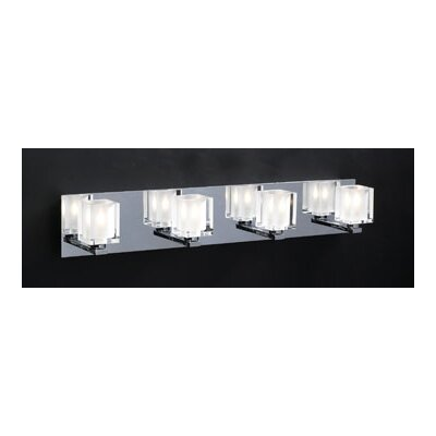 PLC Lighting Glacier 4 Light Vanity Light