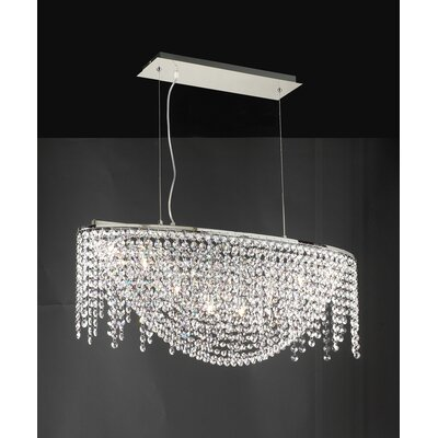 PLC Lighting Prism 8 Light Pendant