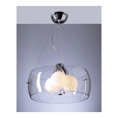 PLC Lighting Lumisphere 3 Light Mini Drum Pendant