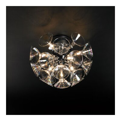 PLC Lighting Martini 13 Light Semi Flush Mount