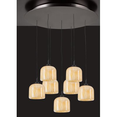 PLC Lighting Cuttle 7 Light Mini Pendant