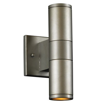 PLC Lighting Troll-II 2 Light Outdoor Wall Sconce
