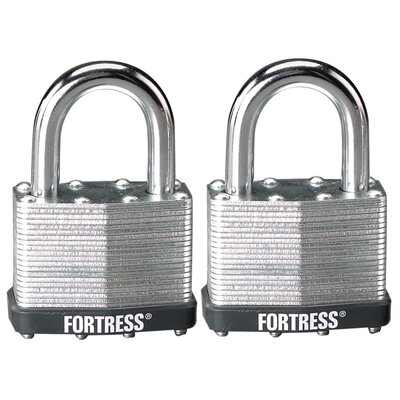 Master Lock Company Laminated Steel Padlock with 2 Keys (Set of 2)