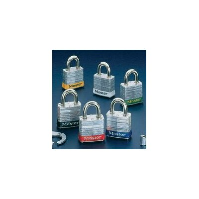 Master Lock Company 3 Laminated Steel Pin Tumbler Padlock - Keyed Differently With Key Number Stamped On Bottom Of Lock