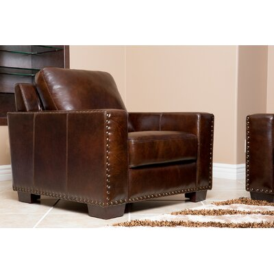 Beverly Hand Rubbed Leather Armchair