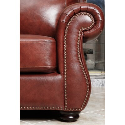abbyson living harbor premium leather sofa reviews wayfair. Black Bedroom Furniture Sets. Home Design Ideas