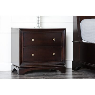 Abbyson Living Lancaster 2 Drawer Nightstand