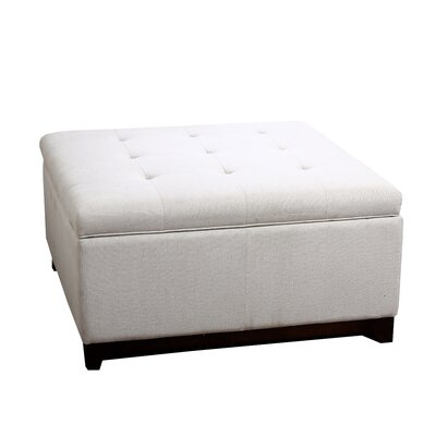 Lorence Tufted Square Fabric Storage Ottoman