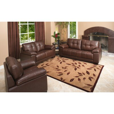 Florence 3 Piece Italian Leather Sofa, Loveseat and Armchair