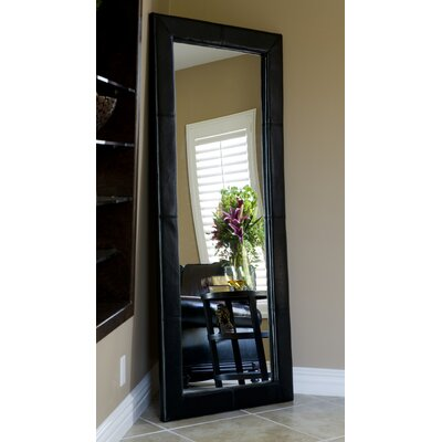 Abbyson Living Allure Bicast Leather Floor Mirror