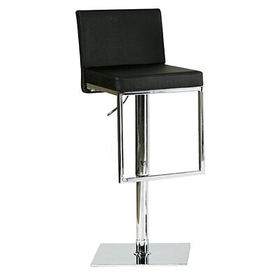 Bellini Modern Living Ann Adjustable Swivel Bar Stool with Cushion