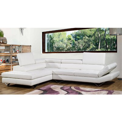 Bellini Modern Living Sicilia Leather Sectional