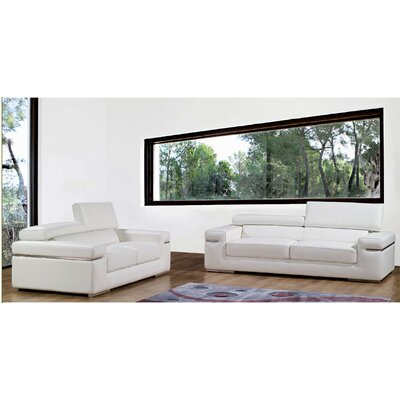 Bellini Modern Living Emilia Leather Living Room Collection