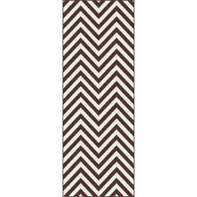 Tayse Rugs Metro Brown Chevron Rug