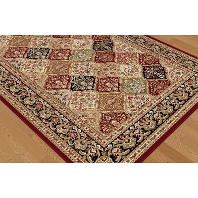 Tayse Rugs Sensation Red Geometric Rug