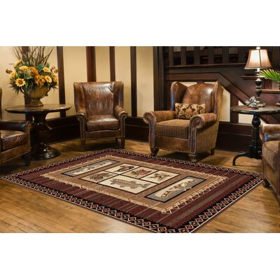 Tayse Rugs Nature Lake Motif Novelty Rug
