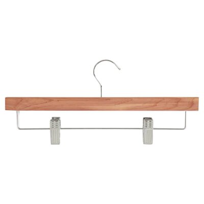 Skirt and Pant Hanger with Clips in Cedar (Set of 4)