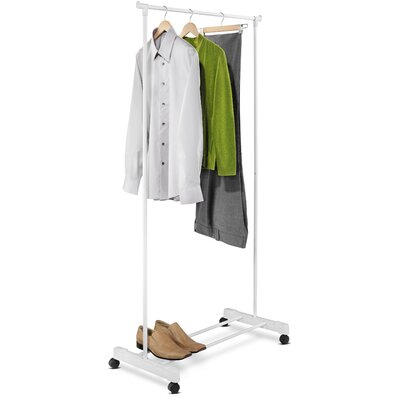 Honey Can Do Portable Garment Rack in White