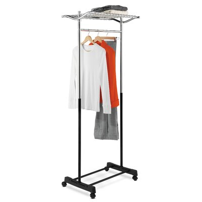 Garment Rack in Black and Chrome