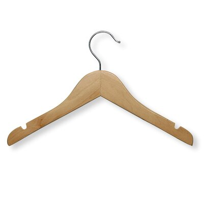 Honey Can Do Kid'S Basic Shirt Hanger in Maple (10 Pack)
