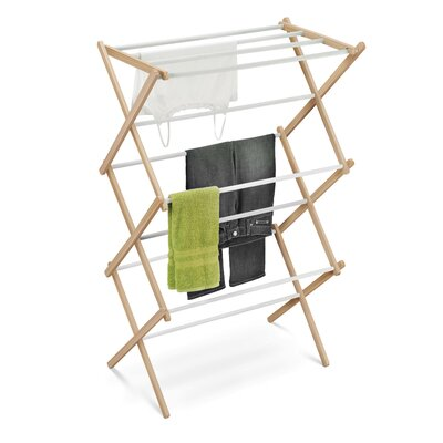 Honey Can Do Accordion Drying Rack in White and Natural
