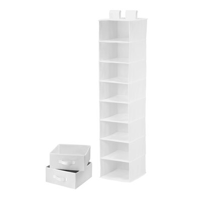 Honey Can Do Eight Shelf Organizer and Two Drawers in White
