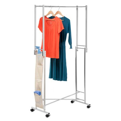 Double Folding Square Tube Garment Rack