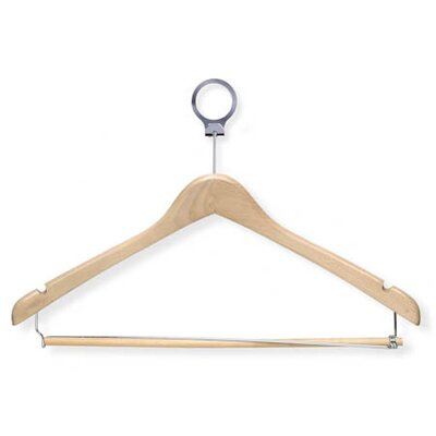 Hotel Suit Hanger in Cherry with Locking Bar (24 Pack)