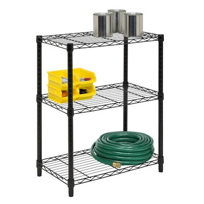 Honey Can Do Three Tier Shelving Unit in Black