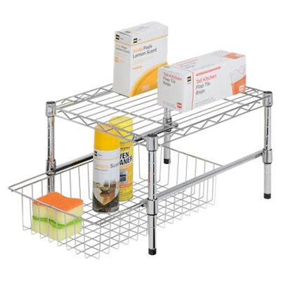 Adjustable Shelf With Under Cabinet Organizer