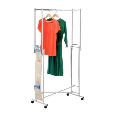 <strong>Honey Can Do</strong> Double Folding Square Tube Garment Rack