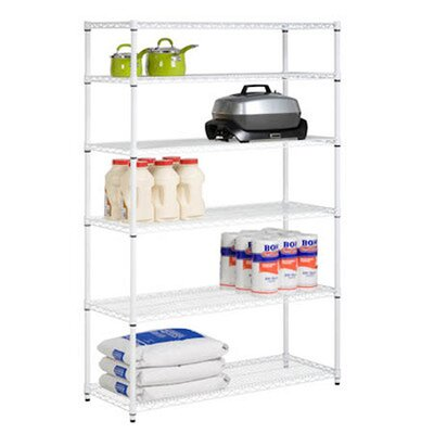 <strong>Honey Can Do</strong> Six Tier Steel Shelving in White