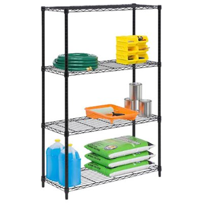 <strong>Honey Can Do</strong> Four Tier Shelving Unit in Black