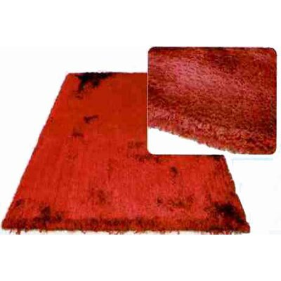 L.A. Rugs Super Shag Red Rug