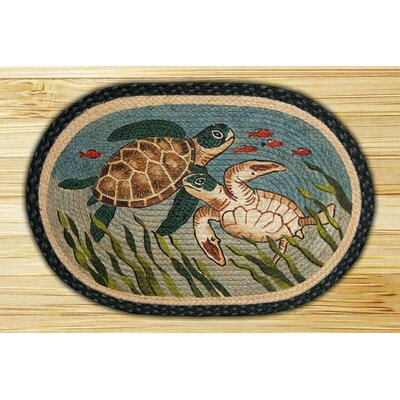 Earth Rugs Turtle Novelty Rug
