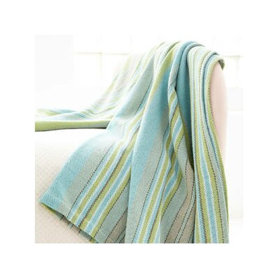 Dash and albert rugs woven swedish blue ivory stripe for Dash and albert blanket