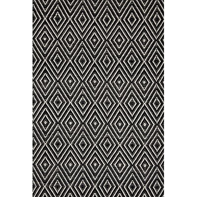 Dash and Albert Rugs Woven Diamond Black/Ivory Indoor/Outdoor Rug