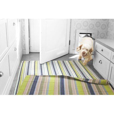 Dash and Albert Rugs Pueblo Woven Marina Stripe Indoor/Outdoor Rug