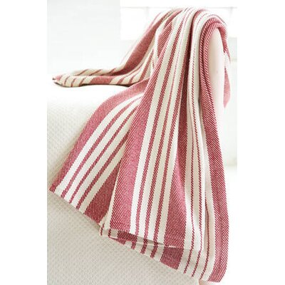 Dash and Albert Rugs Birmingham Red Woven Cotton Throw